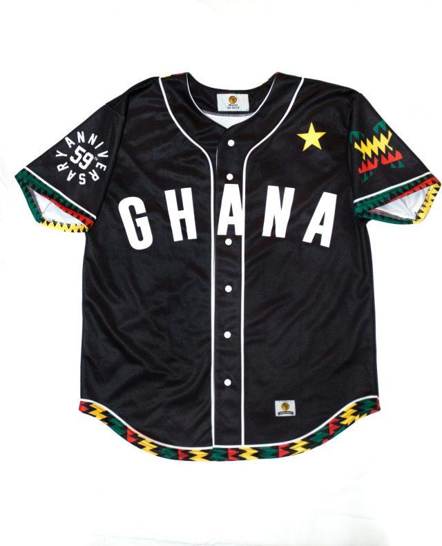 Mizizi ghana baseball jersey