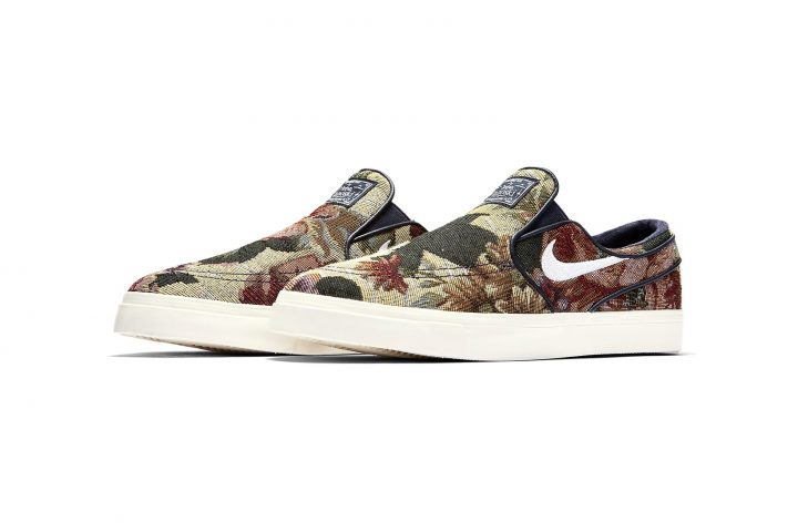 Slip-On Nike SBs Floral side