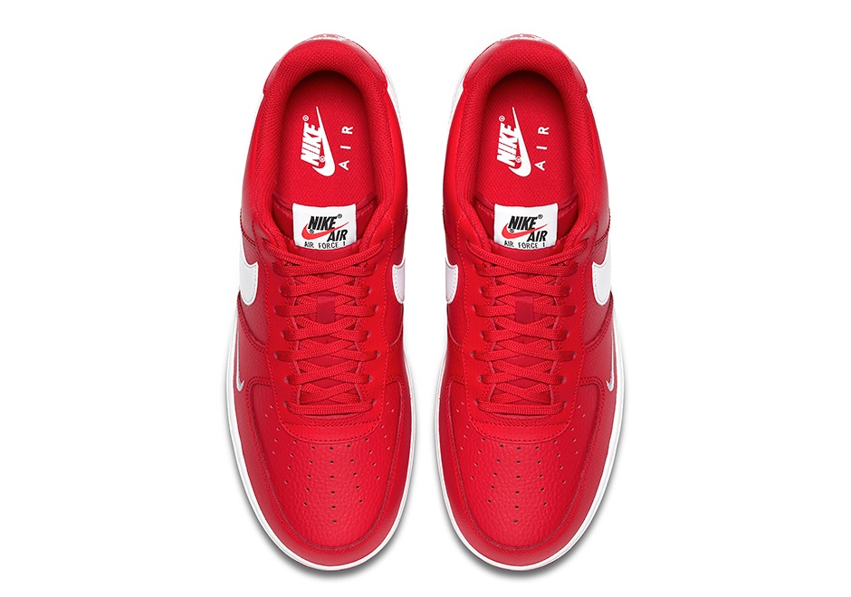 Nike AF1 Mini Swoosh University Red Colorway Sugar Cayne