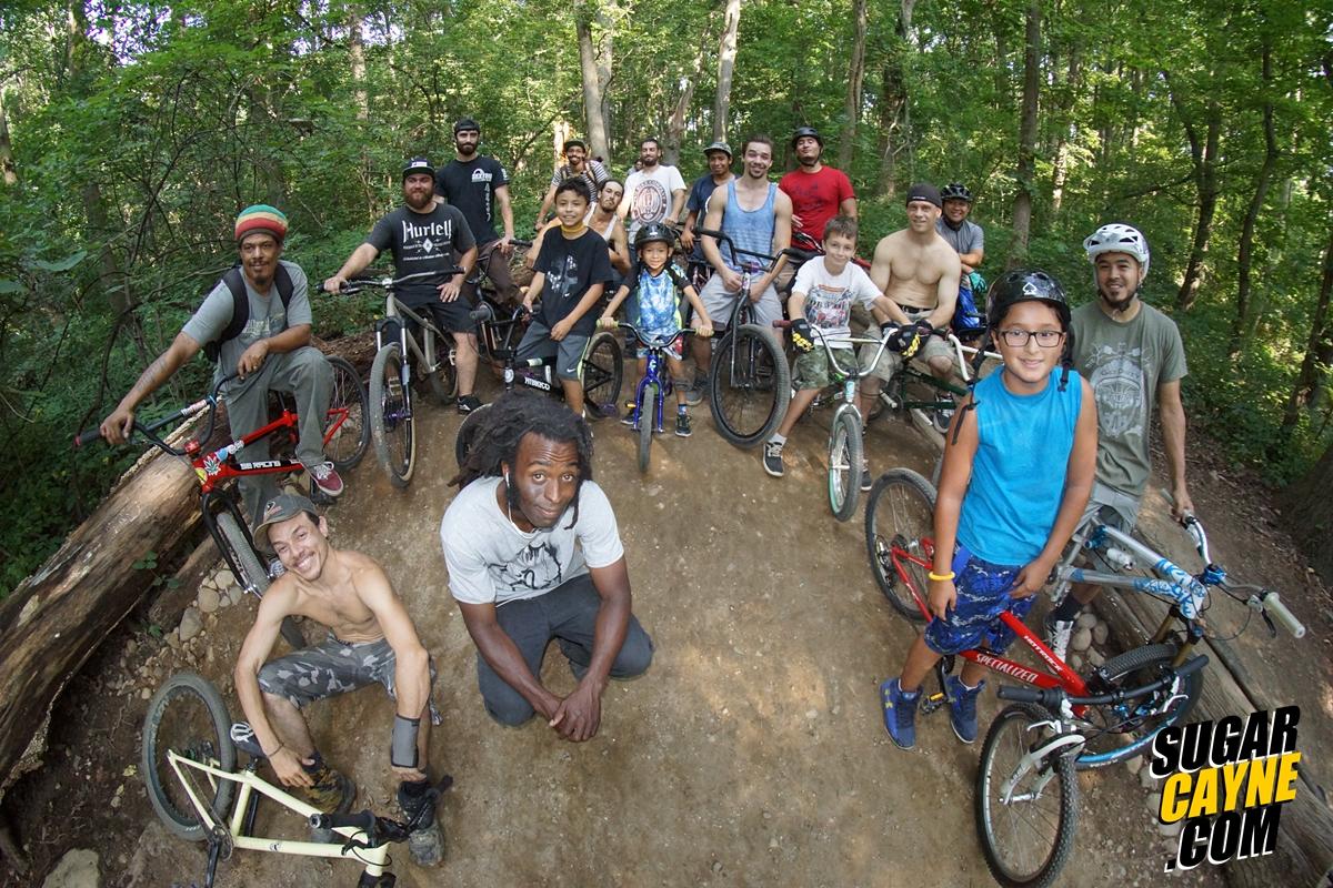Cunningham Pump Track, group photo