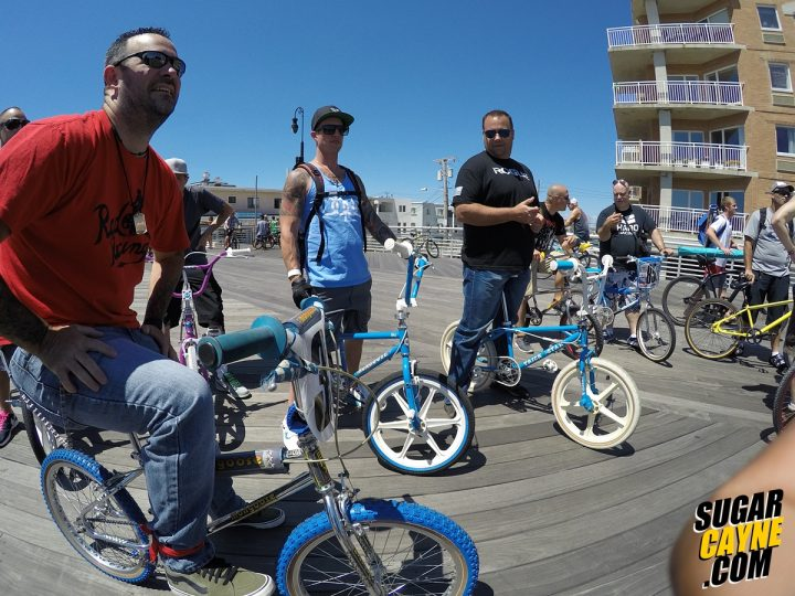 BMXers On Boardwalk, Long Beach