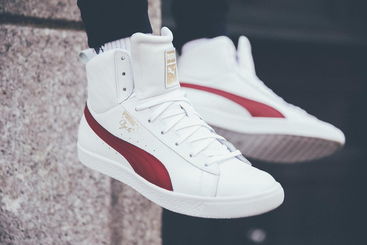 PUMA Clyde Mid Foil in White and Black