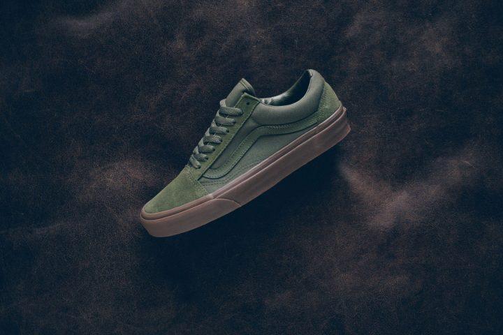 vans olive gum lows side