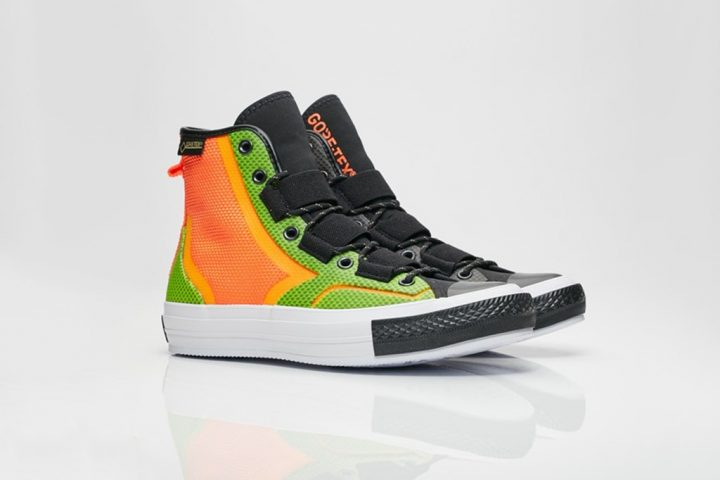 Converse-Gortex hiker orange green
