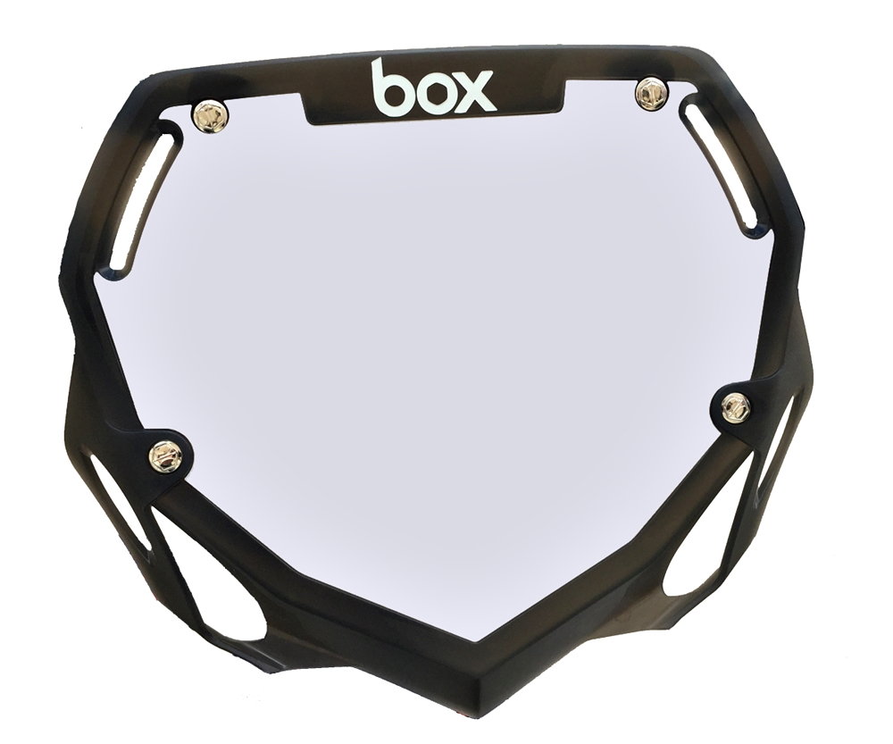 box Trans Black numberplate