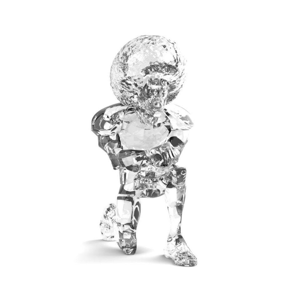 Colin Kaepernick, the messenger, clear resin