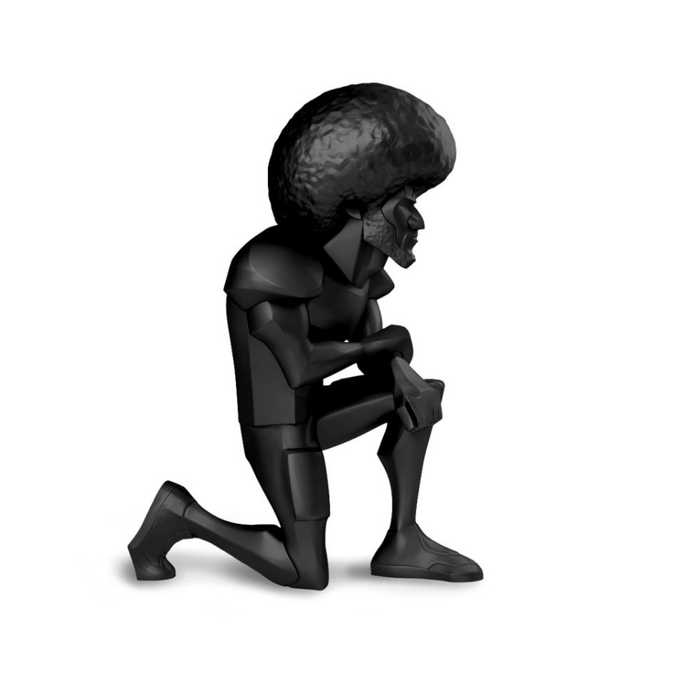 Messenger, Colin Kaepernick, resin figure