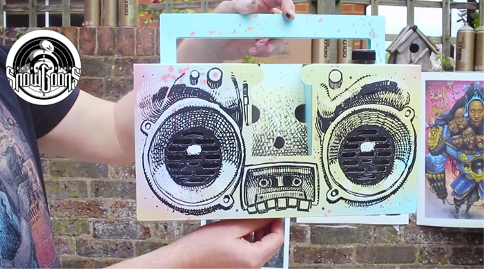 dan lish custom boom box art piece
