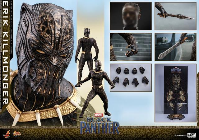 erik killmonger black panther hot toys figure