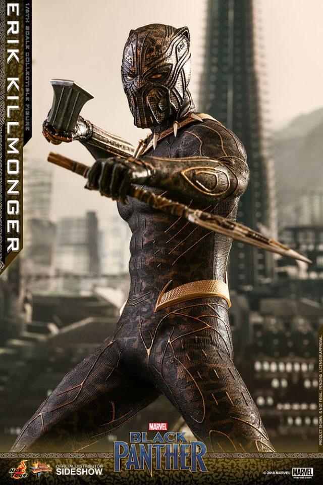 marvel black-panther-erik-killmonger-hot-toys