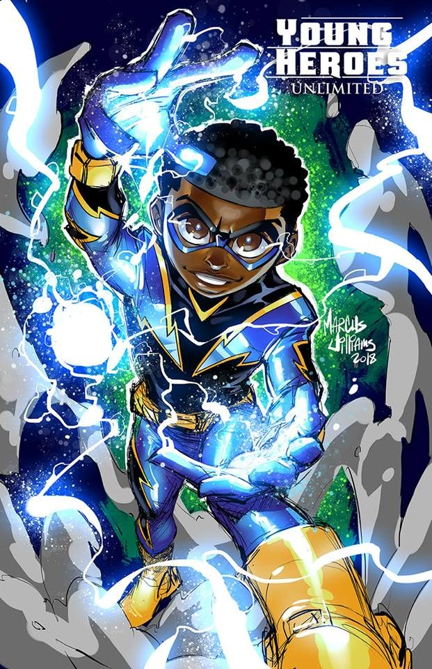 young heroes black lightning drawing