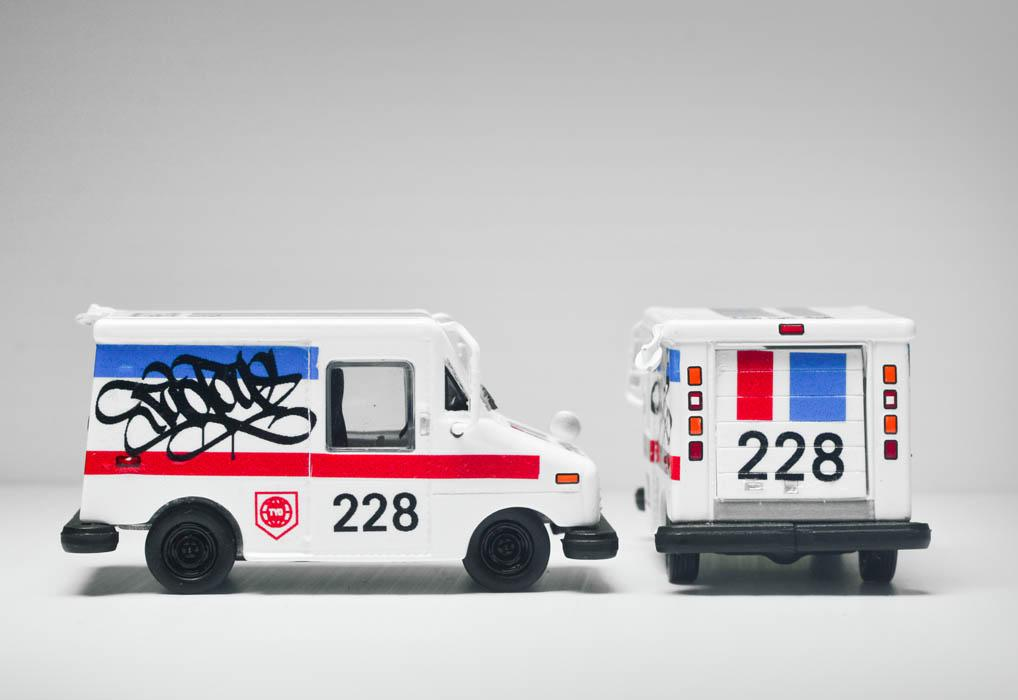 TYOToys mail delivery van graffiti