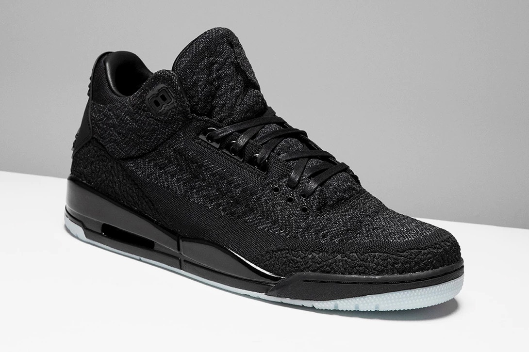 online retailer 36d02 1a56c ... shop air jordan 3 flyknit black cat side eb0ee 8d98f