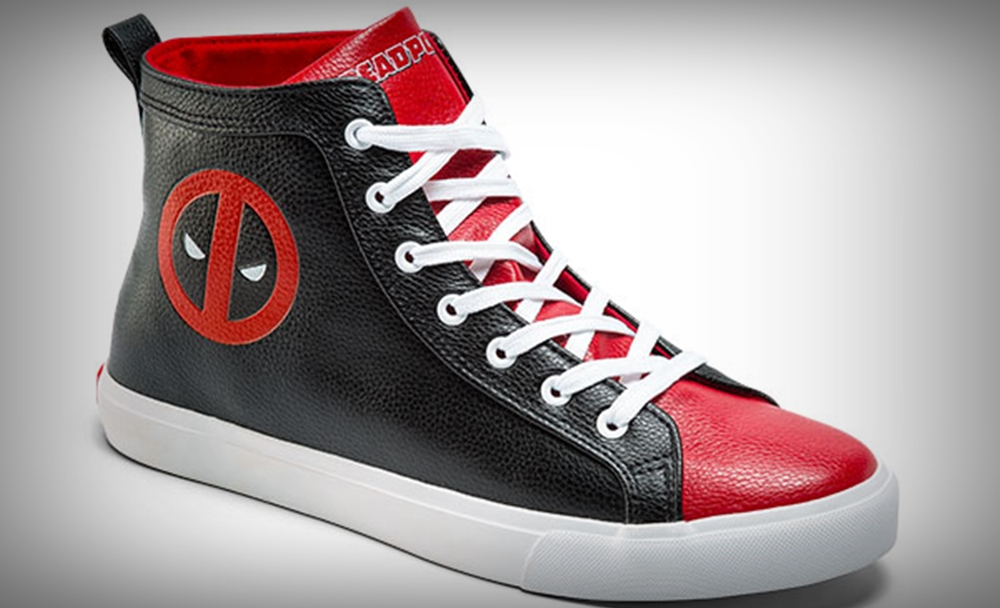 deadpool think geek sneakers