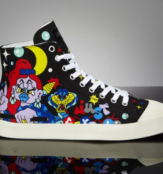 graffiti-xena just-cavalli- sneaker side