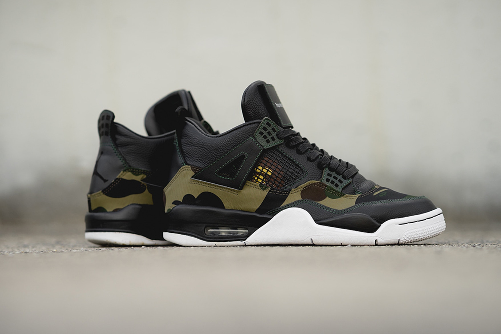 new product 25a45 018e3 BespokeIND, BAPE GORE-TEX And Leathers On Custom Air Jordan 4