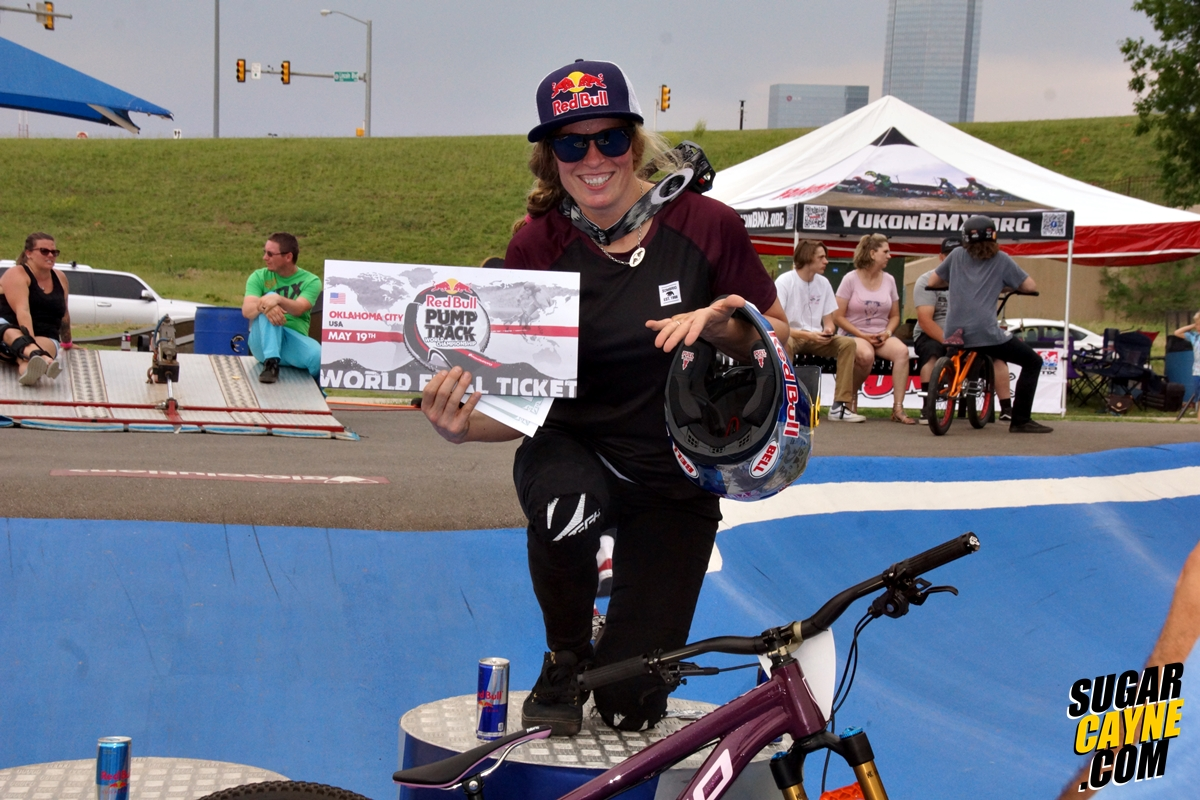 Jill Kitner, red Bull pump Track worlds okc