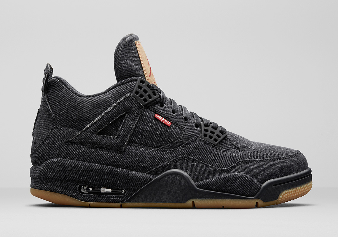 Levis Jordan 4 black denim