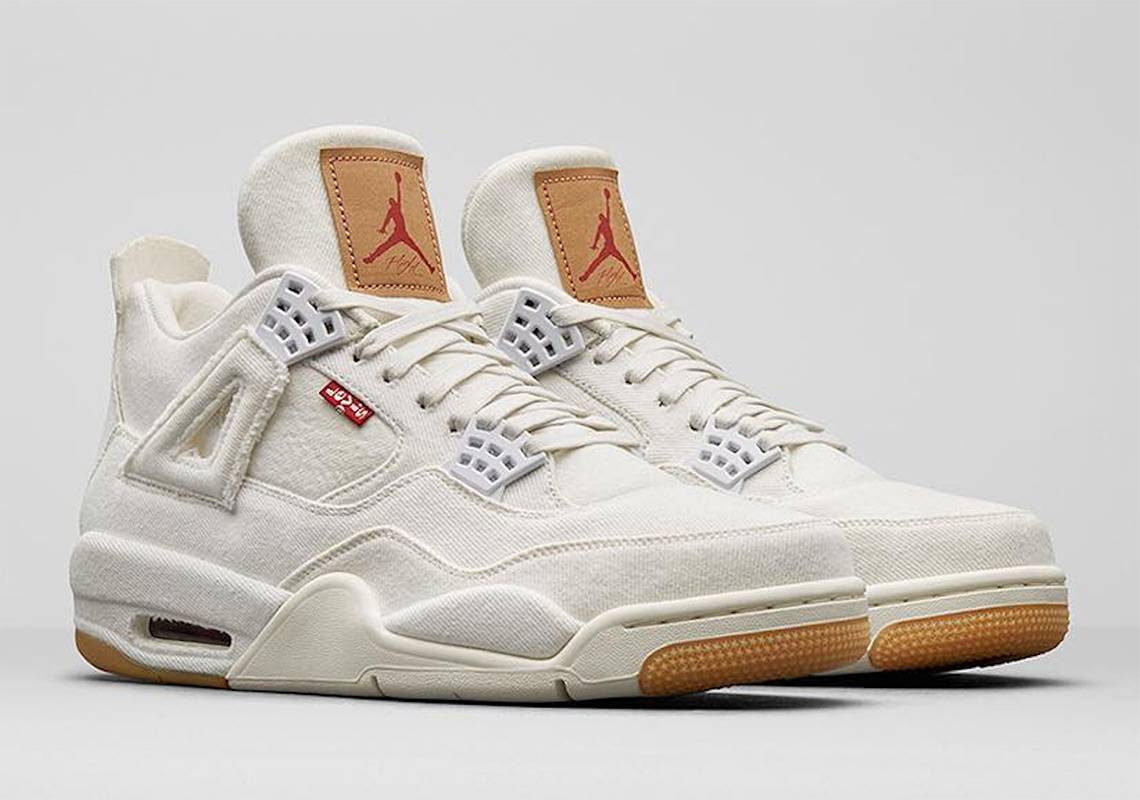 Jordan 4 levis white denim