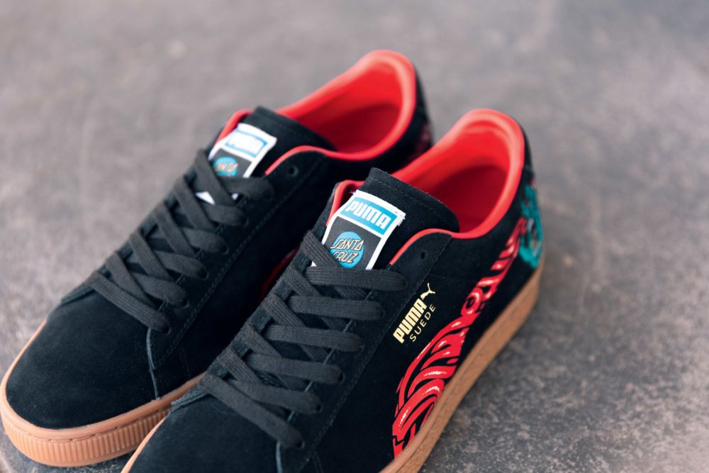 The folks at PUMA teamed up with legendary skate brand Santa Cruz to  celebrate the 50-year anniversary of the iconic PUMA Suede. 49b35f83e