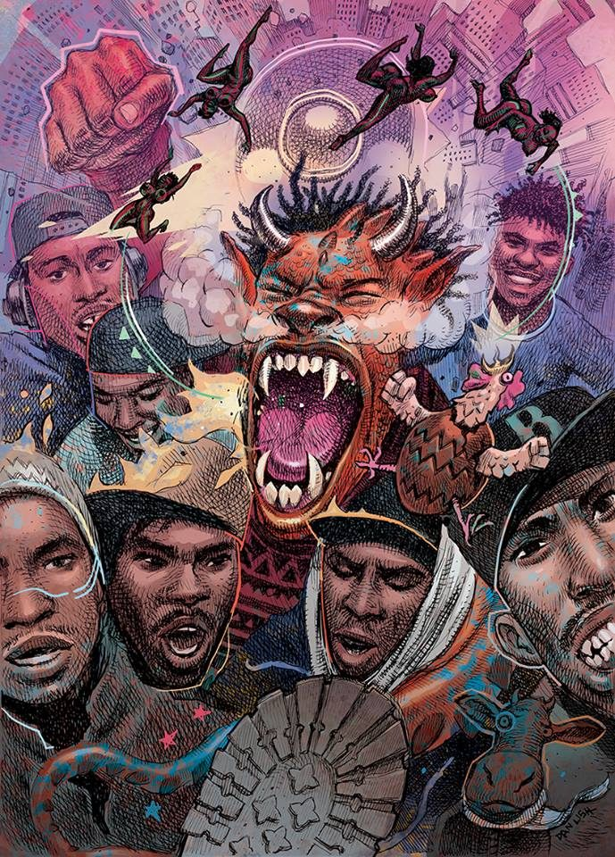 dan lish scenario, tribe called quest illustration