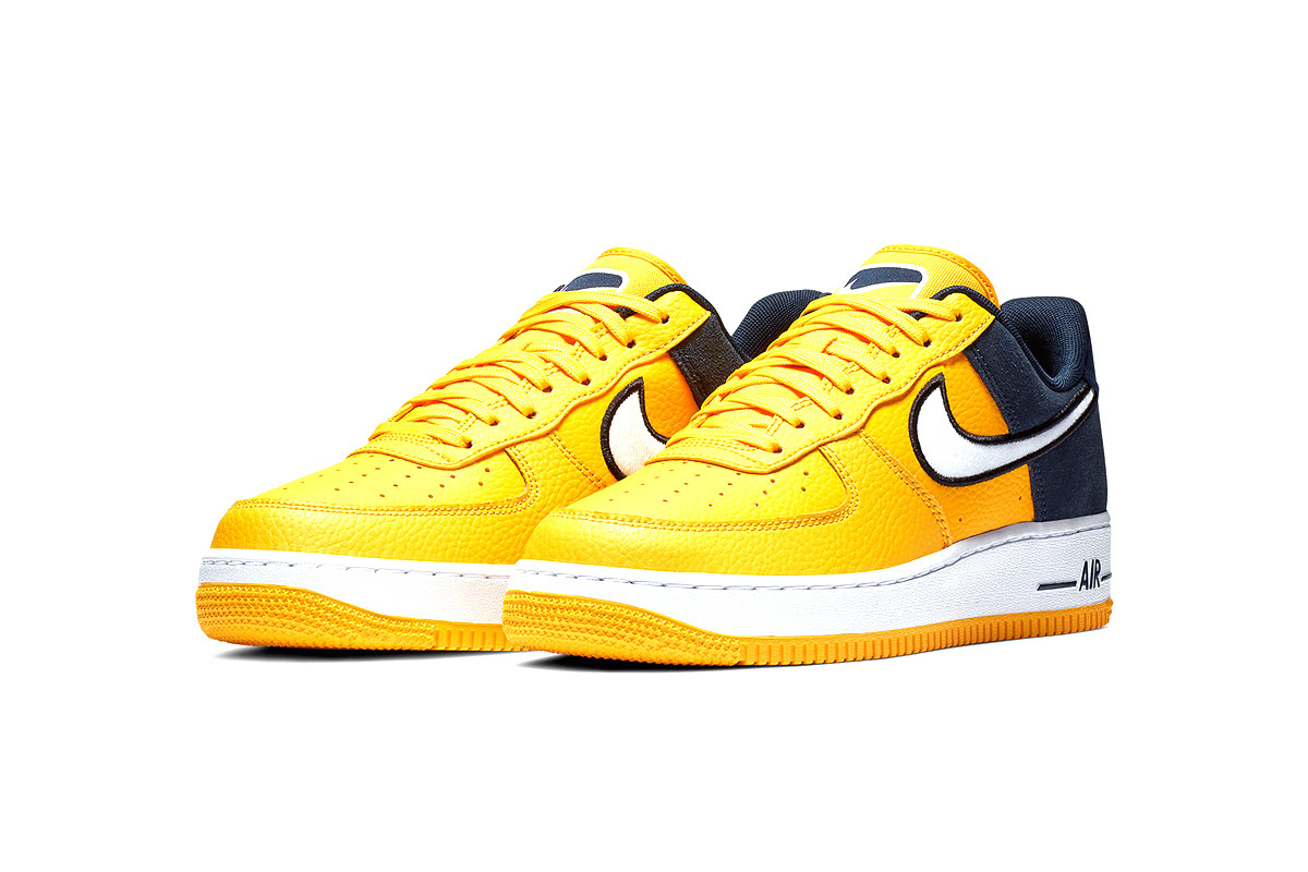yellow-navy nike-two-toned-air-force-1