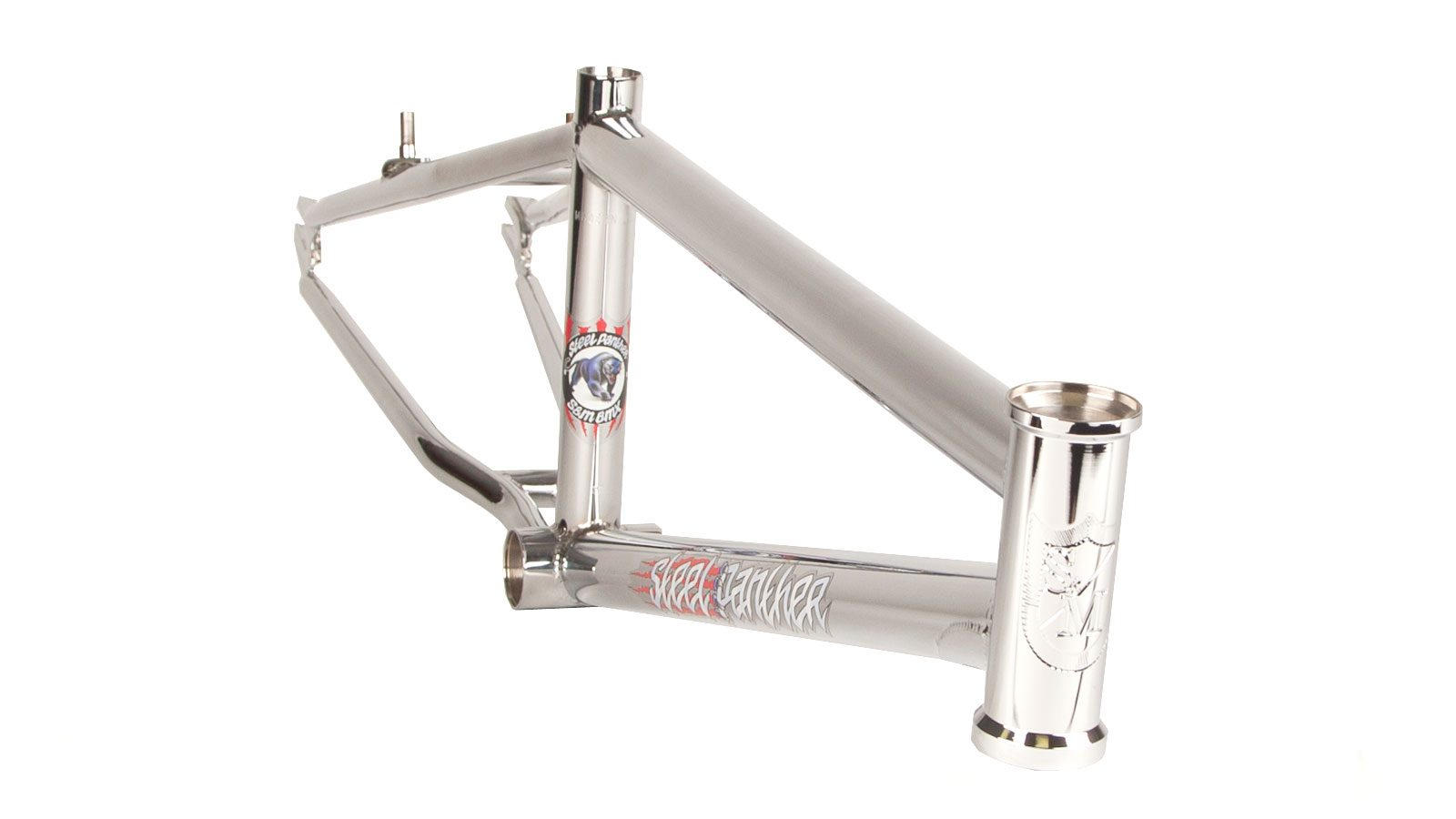 Steel Panther-Chrome BMX frame