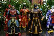 superman, batman, robin armor