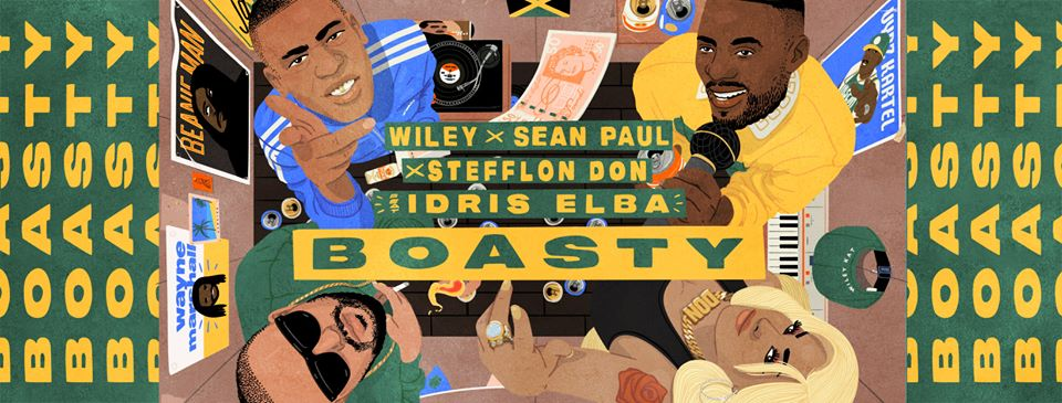 Boasty Wiley, idris elba, sean paul, stefllon