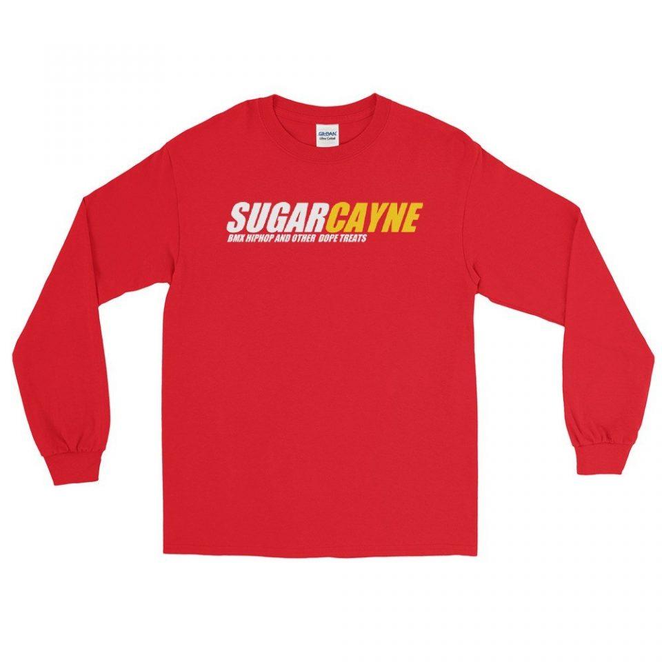Sugar Cayne LS Tee Red