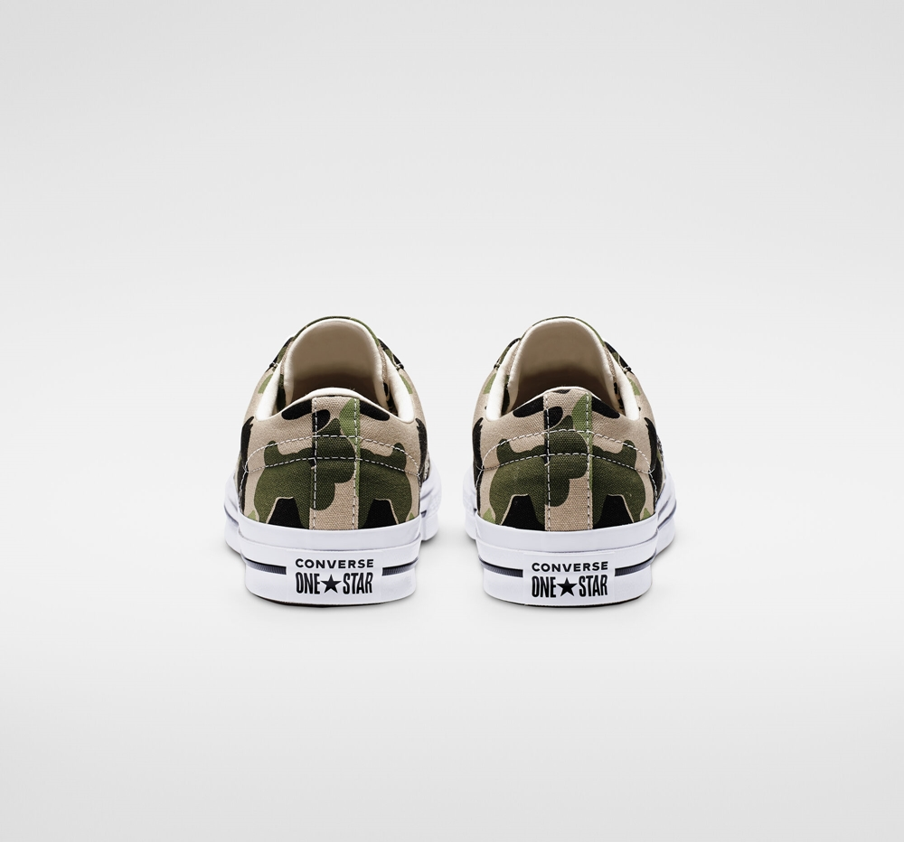 converse one star camo heel