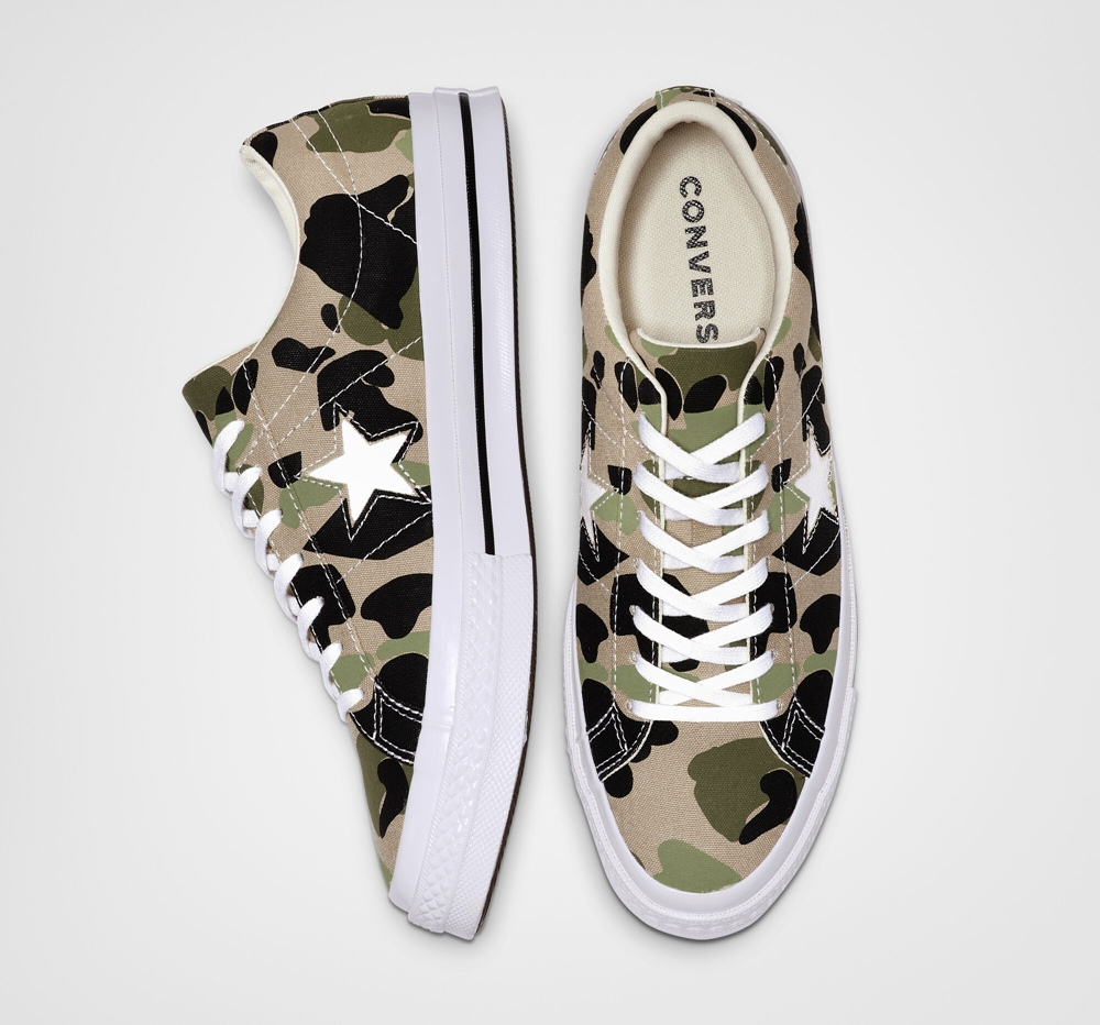 converse one star pair camo