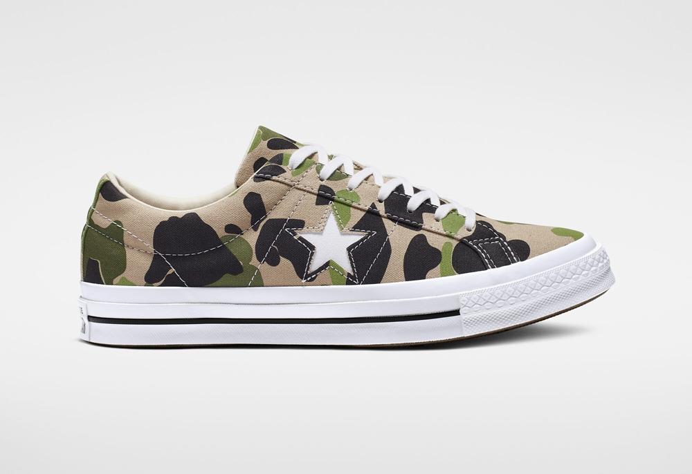 camo converse one star side