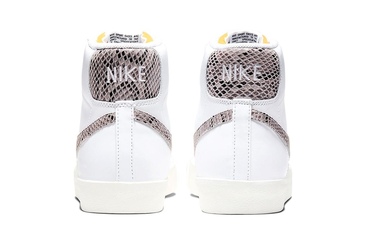 nike blazer reptile white heel