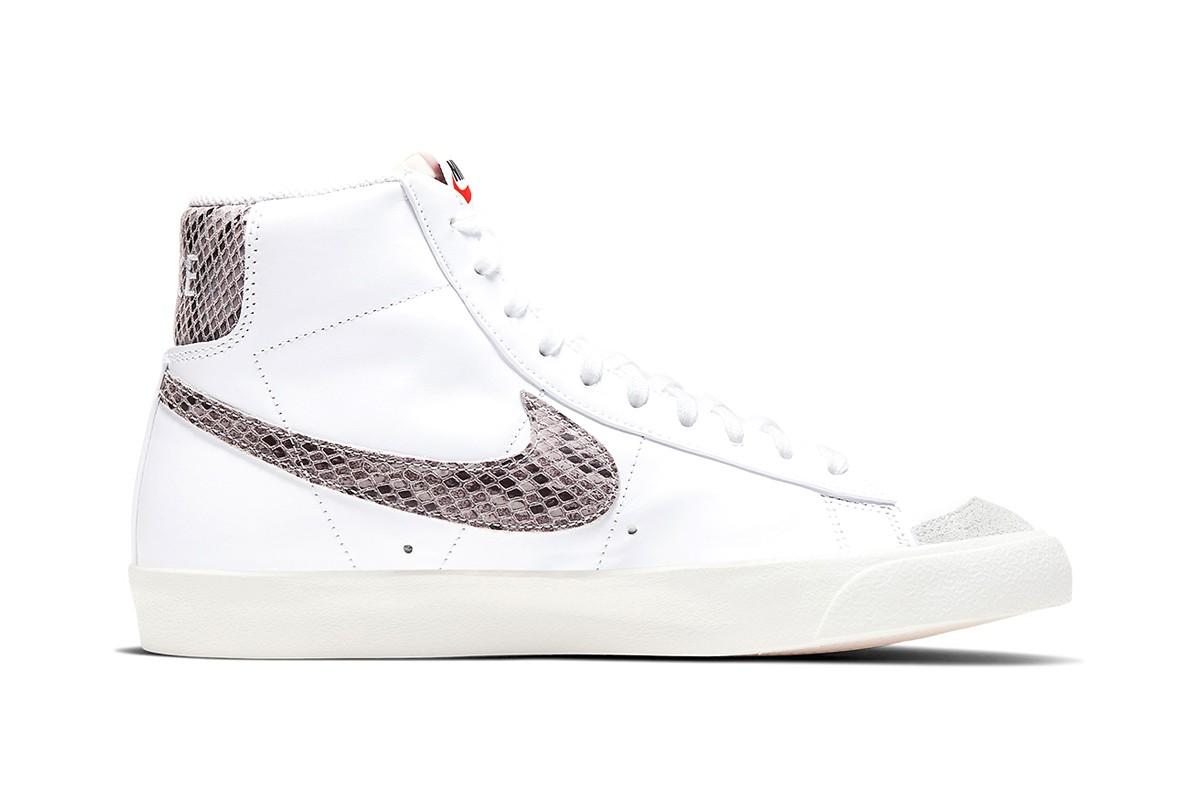 Nike Blazer Mid Reptile White side