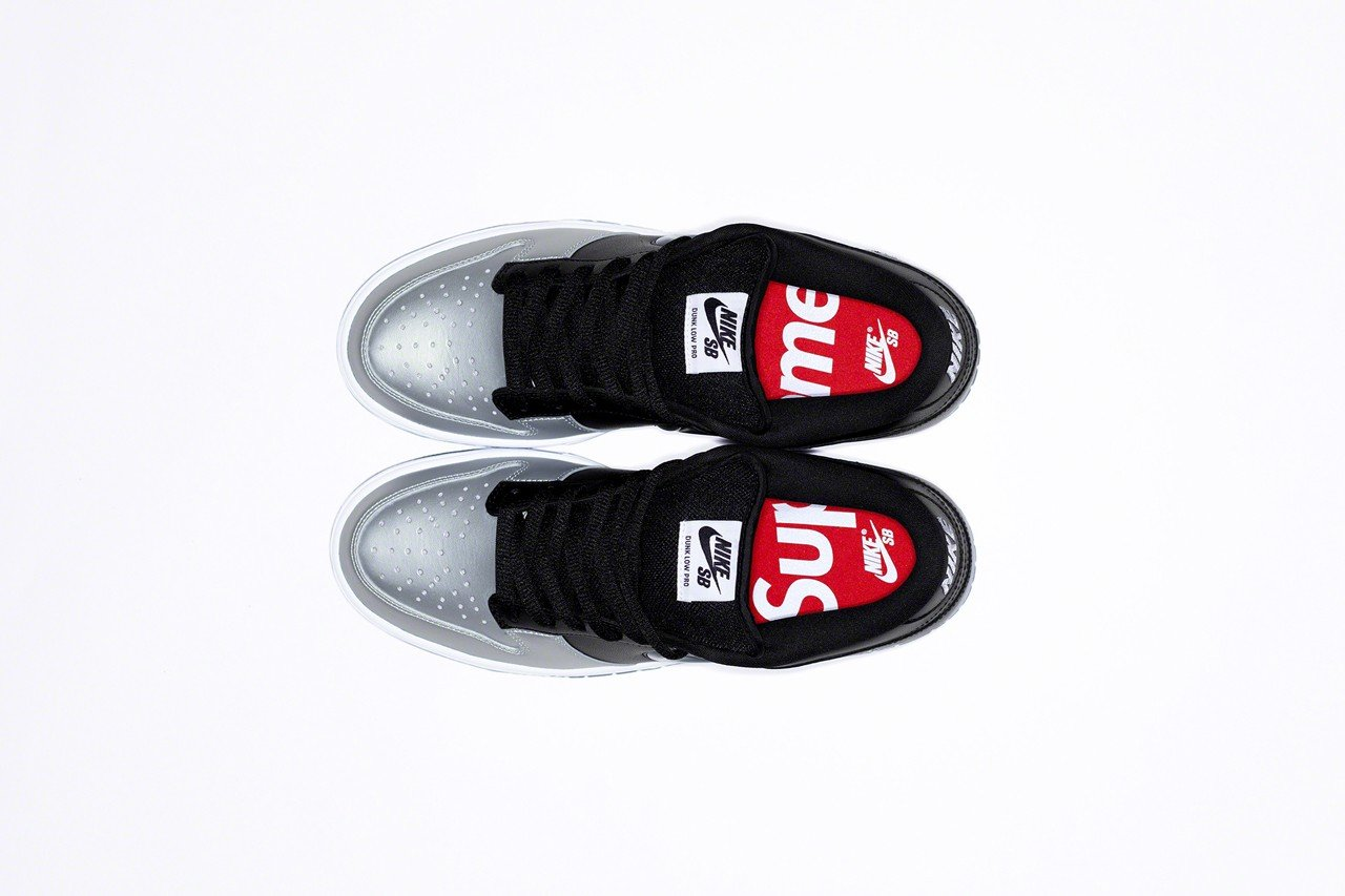 supreme nike sb dunk black grey