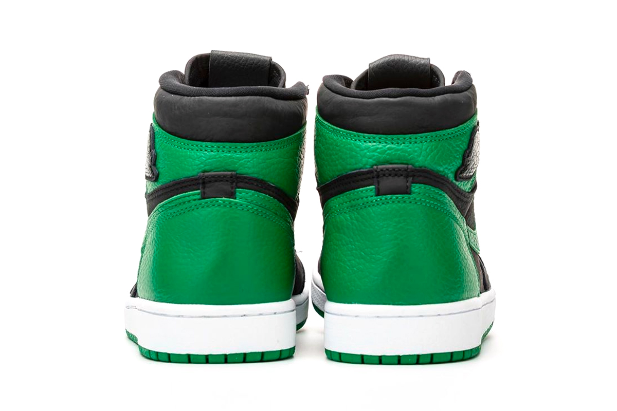 pine green air jordan 1 heel