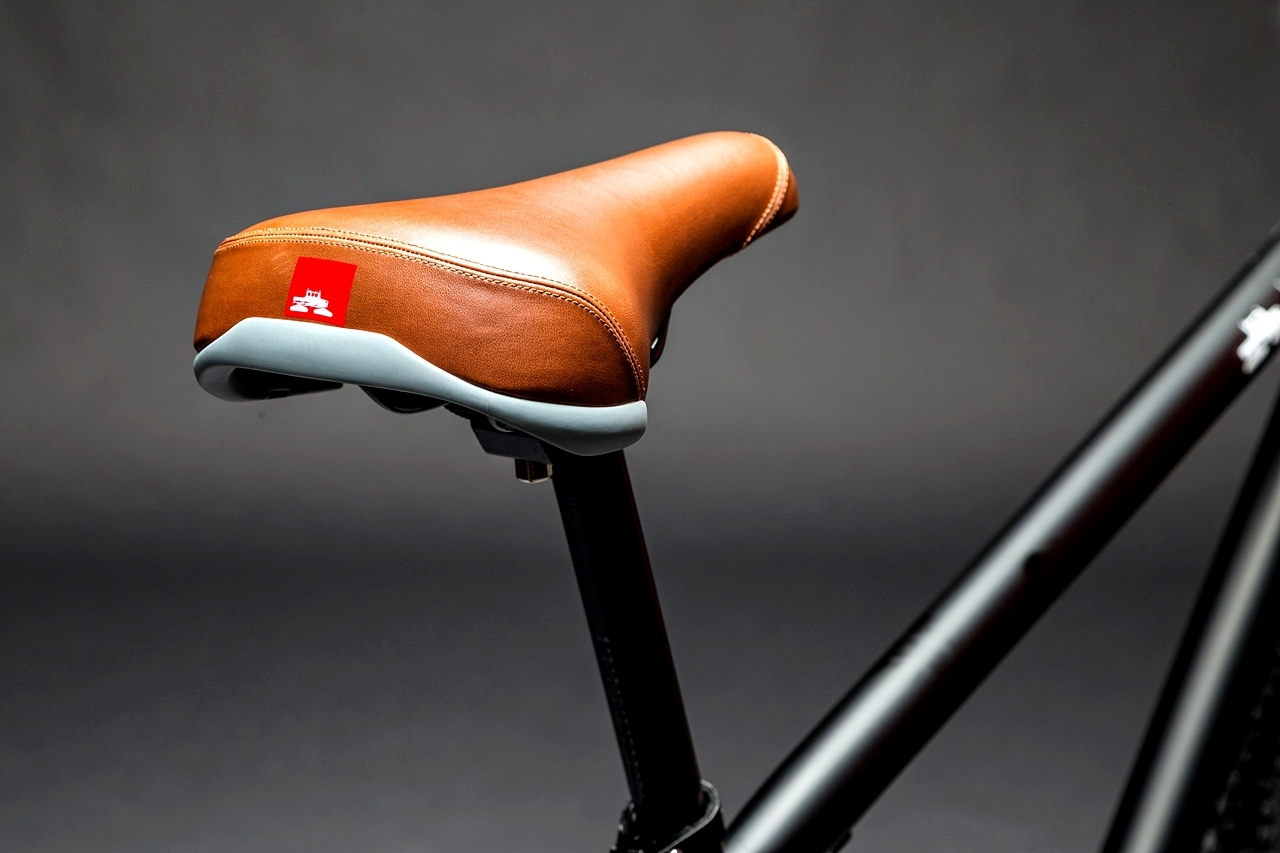 spacecraft logo bicycle seat