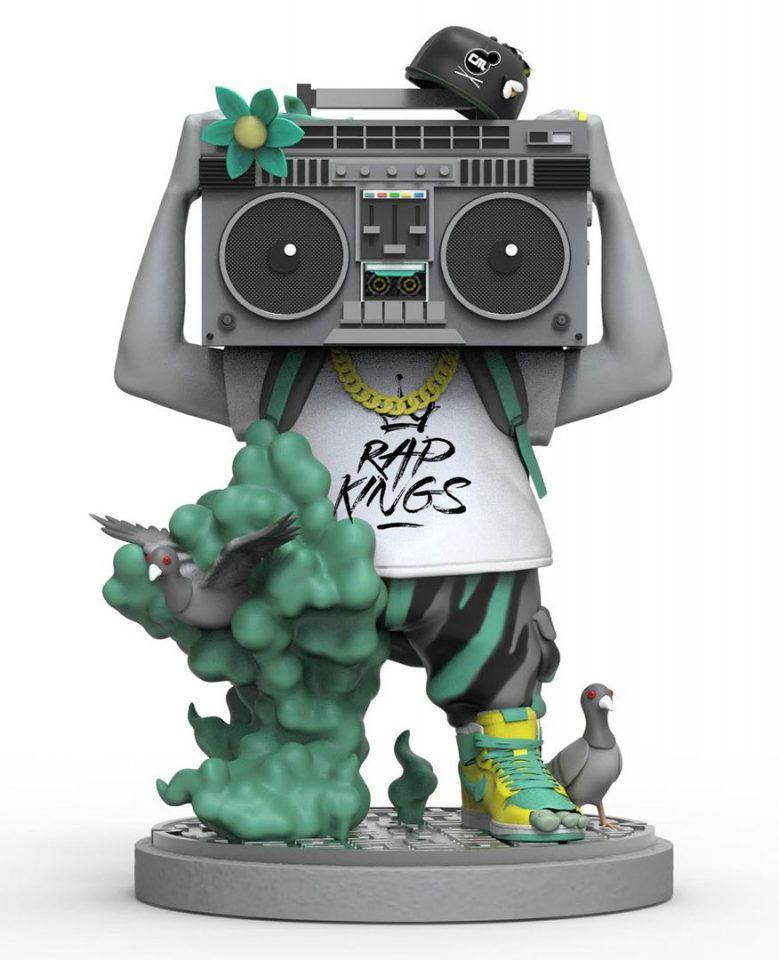 rap kings boom box toy figure