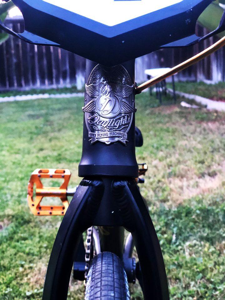 Daylight head tube badge bmx