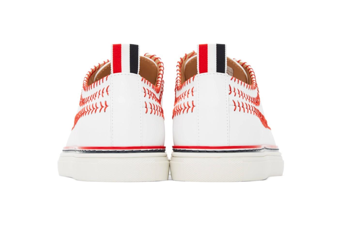 Thom Browne baseball sneakers heel