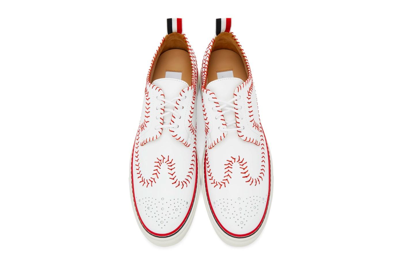 Thom Browne baseball inspired sneakers