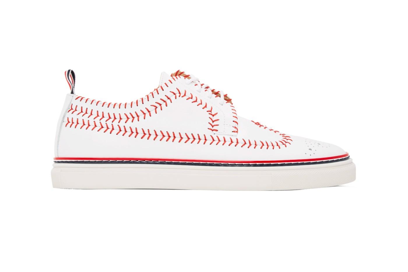 Thom Browne baseball sneakers side