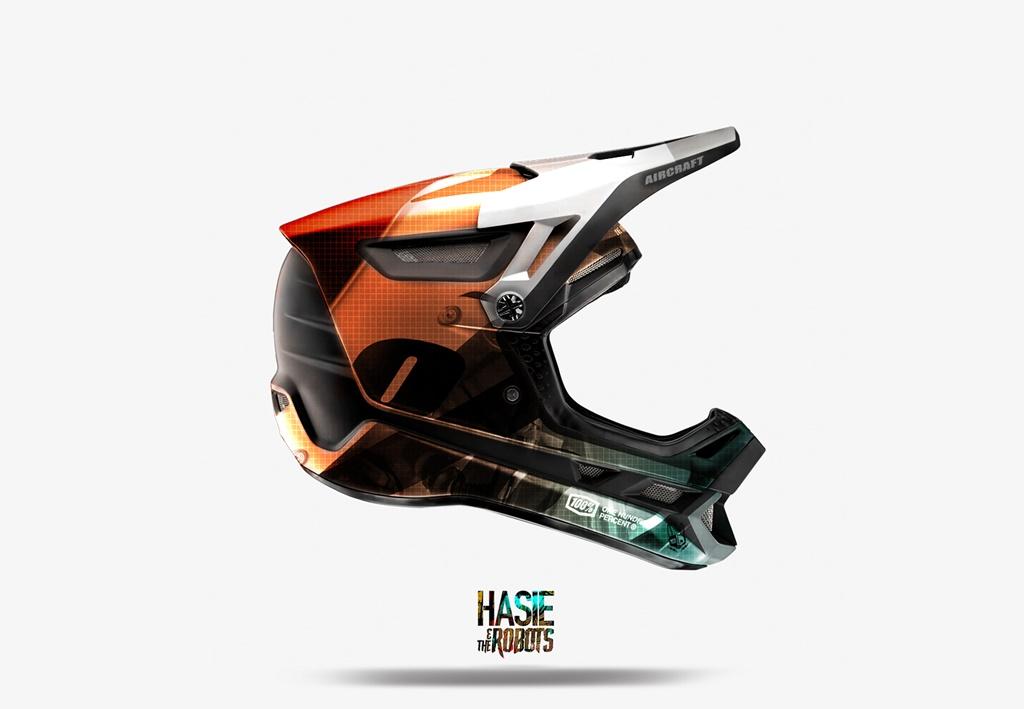 Hasie & The Robots 100% Full Face Helmet