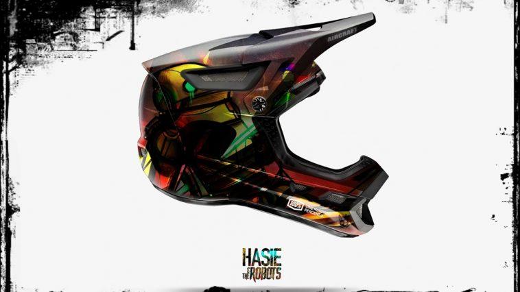 Hasie & The Robots custom helmet