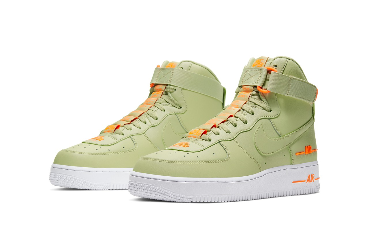 nike air force 1 olive pair