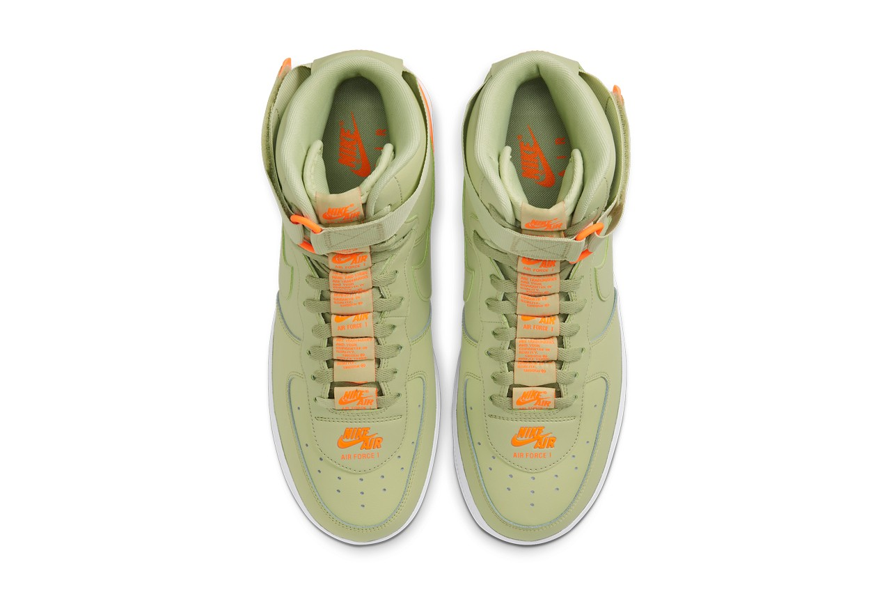 Nike Air Force 1 High 07 Lv8 3 Olive And Orange Sugar Cayne