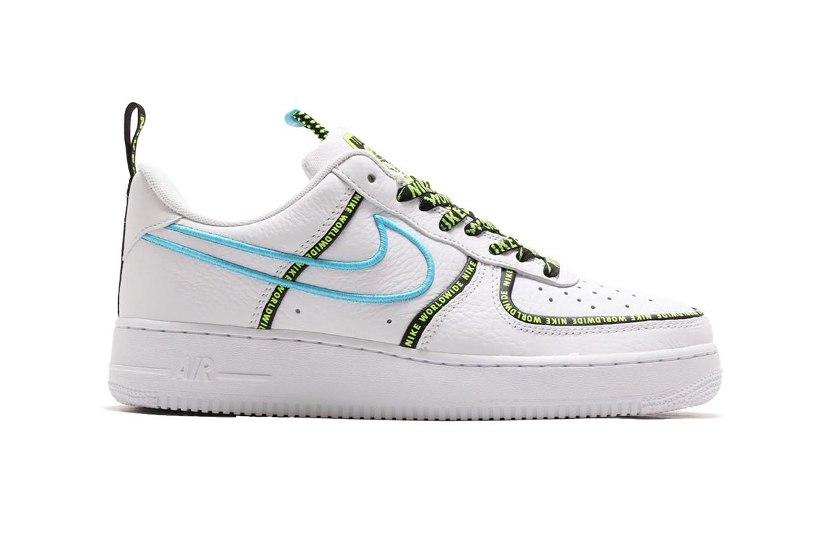 Nike af1 White/Blue Fury
