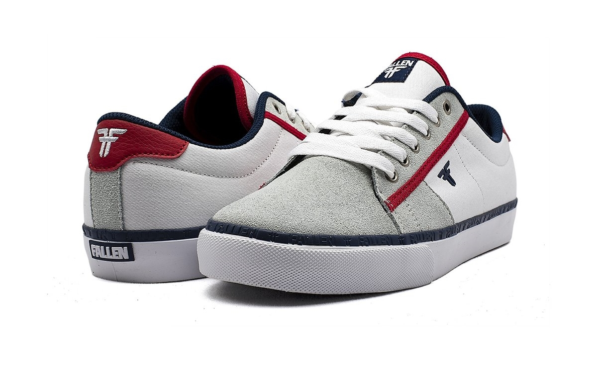 fallen bomber sneakers white