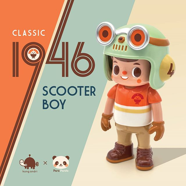 scooter boy art toy flyer